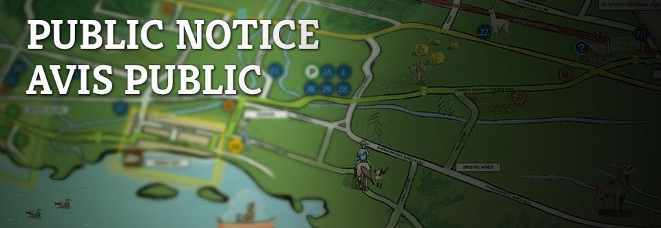 Avis Public – pour la présentation des règlements #310, # 311, #312, & #313